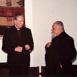 Il Cardinale Carlo Maria Martini e il Priore di Bose Enzo Bianchi